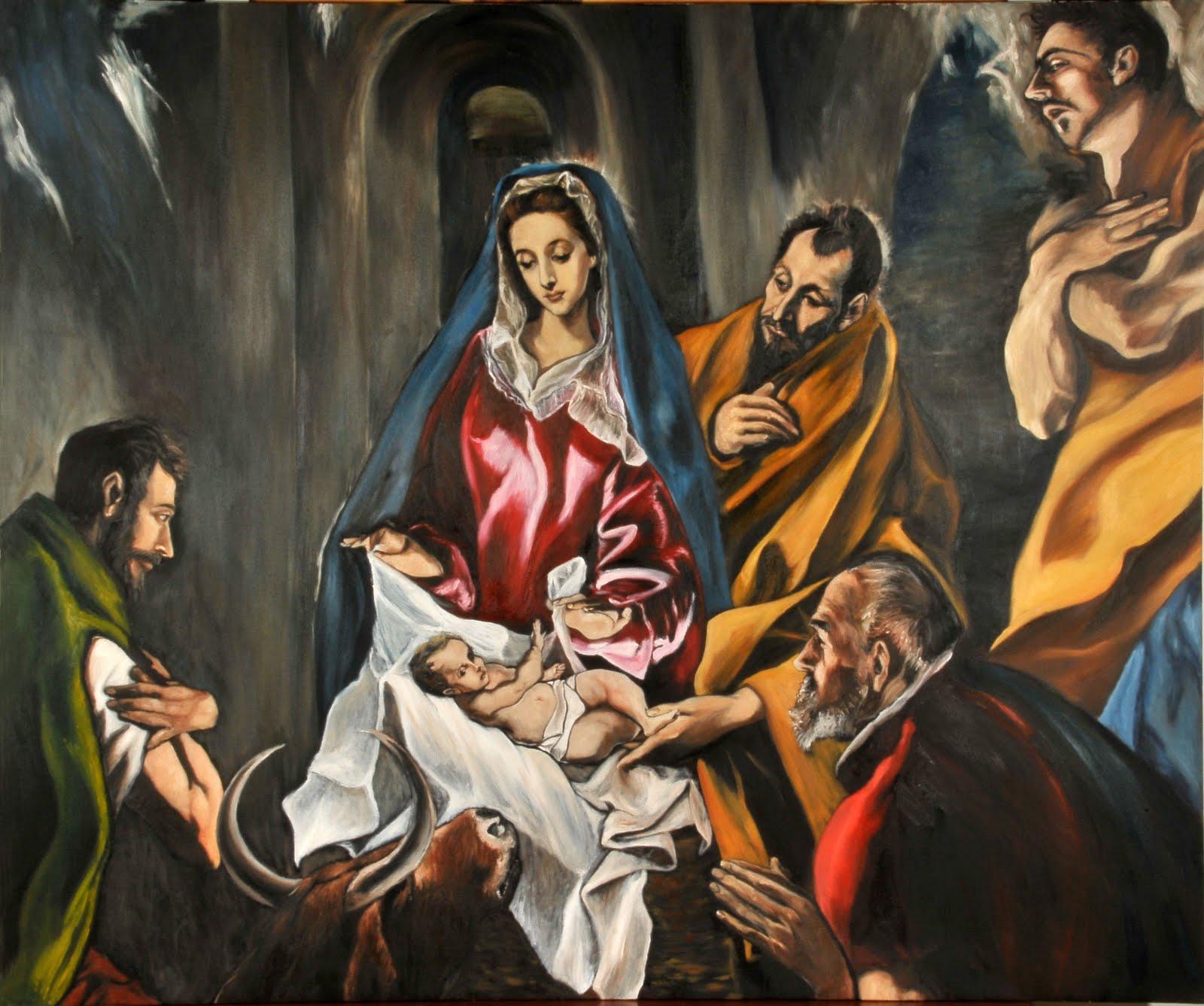 Resultado de imagen para cuadros del nacimiento de jesus