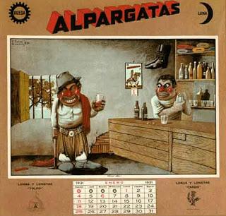 Almanaque Alpargatas Florencio Molina Campos