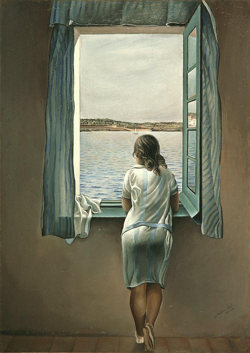 Muchacha en la ventana, de Salvador Dalí