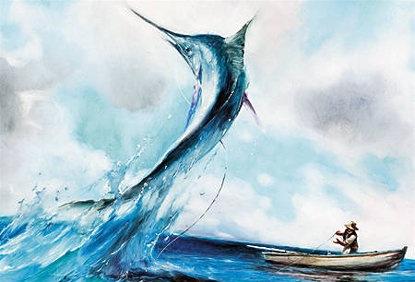 fotograma del cortoThe Old Man and the Sea, de Aleksandr Petrov