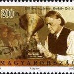 Estampilla con la figura de Zoltán Kodály