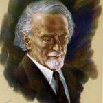 Pintura del rostro de Kodály
